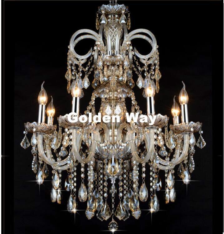 Cognac Color Chandelier Crystal Pendant Chandelier Lights Fixtures Hotel Crystal Lighting Lamp Staircase Long Chandelier Light|Chandeliers| |  - title=