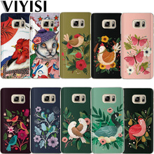 VIYISI For Samsung Galaxy s8 A5 2017 Case S9 Plus Phone case Cover J7 J5 J3 A3 2015 2016 S6 S7Edge Animals Flower Coque
