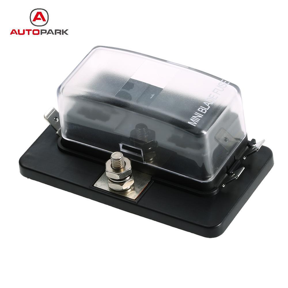small resolution of 4 way mini blade fuse box holder apm atm 5a 10a 25a for car boat marine trike 12v 24v