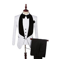 New men's suits Slim casual suit men's professional wear groomsman wedding suit white