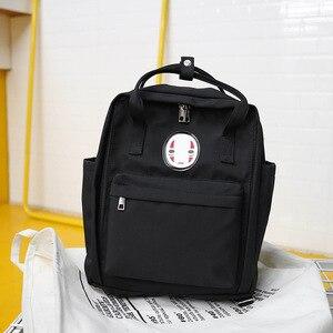 Image 2 - Kobiety Canvas plecaki szkolne torby dla nastolatków dziewczyny czarne urocze plecaki szkolne torby podróżne na ramię torby na książki Famale plecak