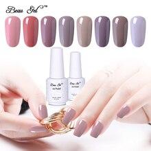 Beau Gel Nude Color Nail Gel Polish Soak Off UV Nail Polish Glitter Gel Varnish Vernis Ongle 8ml Semi Permanent Gel Lacquer