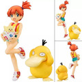 "Free Shipping 4""Anime Cartoon Misty Kasumi & Togepi Togepy & Psyduck Koduck Boxed 10cm PVC Action Figure Collection Model Doll"