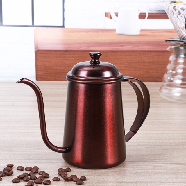 Stainless Steel Coffee Drip Kettle Frothing Jug Coffee Pot Gooseneck Spout Kettle High Quantity Coffee Tea tools 650ML 5