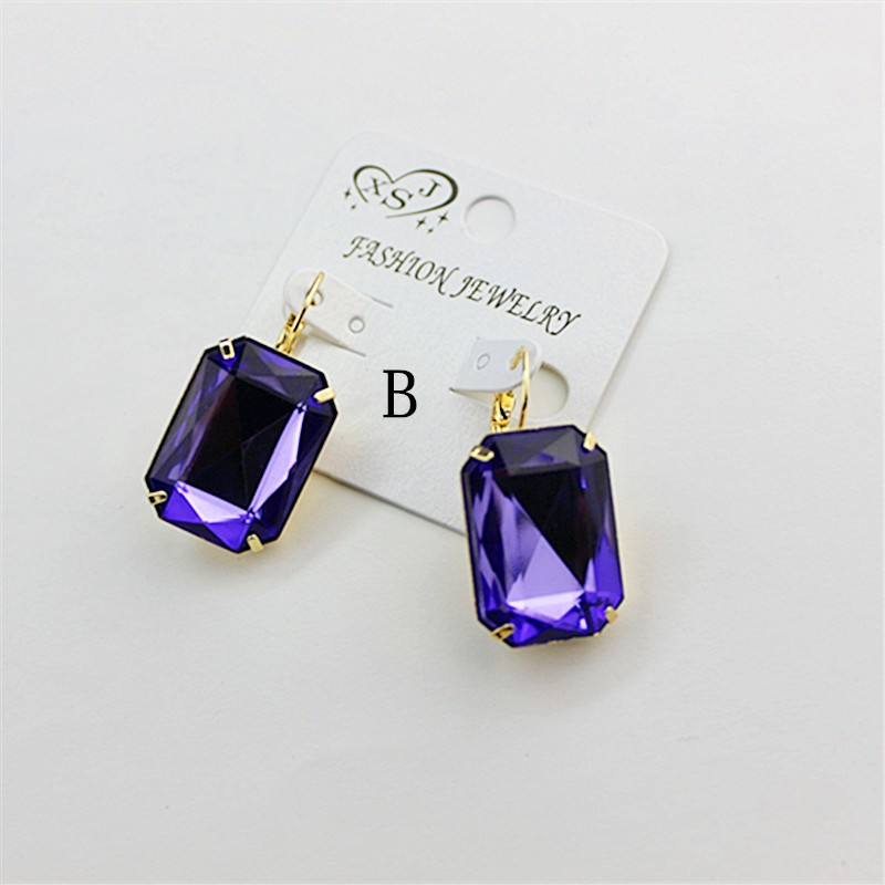 HTB1g9GIOVXXXXbFXVXXq6xXFXXXI - Hot and bright green purplish red, purple and blue pink and blue pink color women's birthday party earrings with beautiful earri