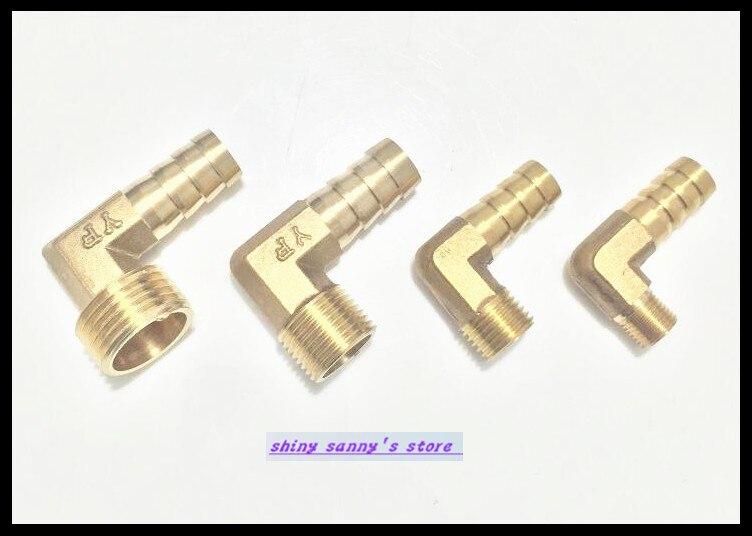 6Pcs/Lot  14-04  14mm-1/2 BSP 2 ways Male Barbs Elbow Hose Brass Pipe Adapter Coupler канцелярские кнопки drawing pin creative office 136