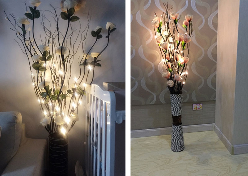 2018 New Modern Branch Lamp Floral Light 20LED AA Battery Powered Willow Branch Fairy Light Vase Coffe Bar Wedding Holiday Decor (4)