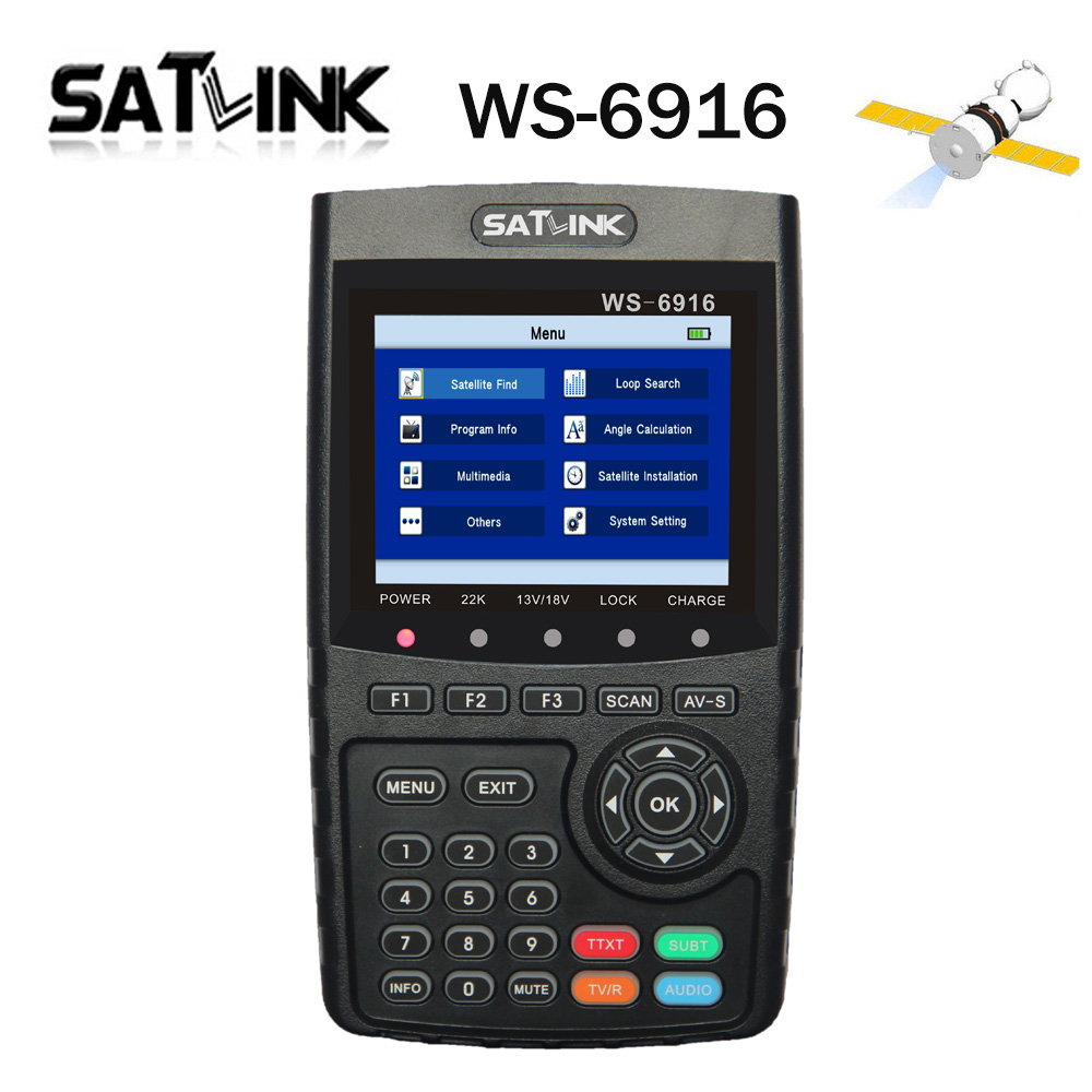 [Genuine] Satlink WS-6916 HD DVB-S2 High Definition Satlink 6916 Satellite Finder 3.5 inch MPEG-2/MPEG-4 WS6916 Satellite Meter satlink ws 6916 satellite finder dvb s2 mpeg 2 mpeg 4 3 5 inch high definition satellite meter tft lcd screen pk v8 finder