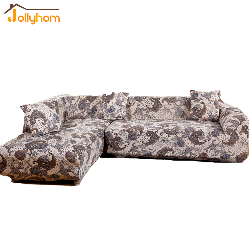 Modern Household Style Sectional Sofa Cover L Shaped Long Slipcover  Comfortable Elasticity Flexible Couch Cover