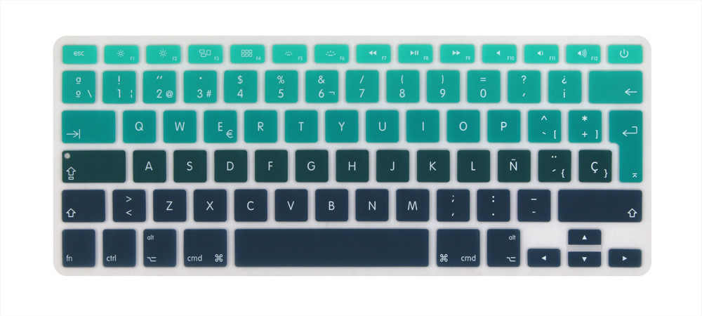 super popular 09085 20d31 ES Spain Spanish EURO keyboard Cover for Mid 2009-Mid 2015 MacBook Pro 13  15 inch Retina/CD ROM A1502 A1425 A1278 A1398 A1286
