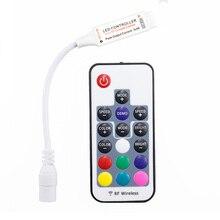 Mini Led RGB Fernbedienung DC5 24V 17key RF Wireless Controller mit 4pin weibliche DC Für 5050 12A RGB Led Streifen band Beleuchtung