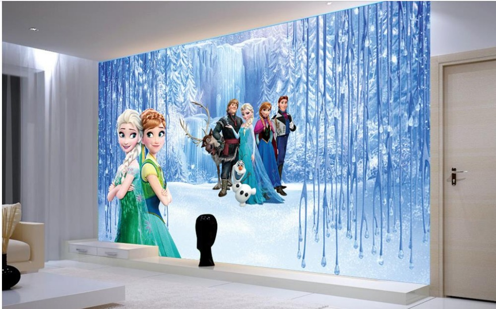 3d wallpaper mural Kids Room customized wallpaper walls Frozen 3d     3d wallpaper mural Kids Room customized wallpaper walls Frozen 3d desktop  mural Non woven 3D stereoscopic photo wallpaper in Wallpapers from Home