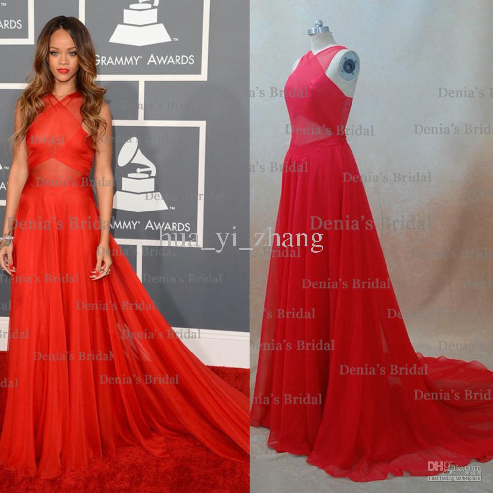 Vestido rojo de rihanna