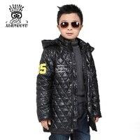 מכירה! מעיל חורף ילד כותנה מרופדת ילדים האופנה סלעית מעילי ילדי מוצרי הלבשה תחתונה שחור/כחול גודל 120-140 ס