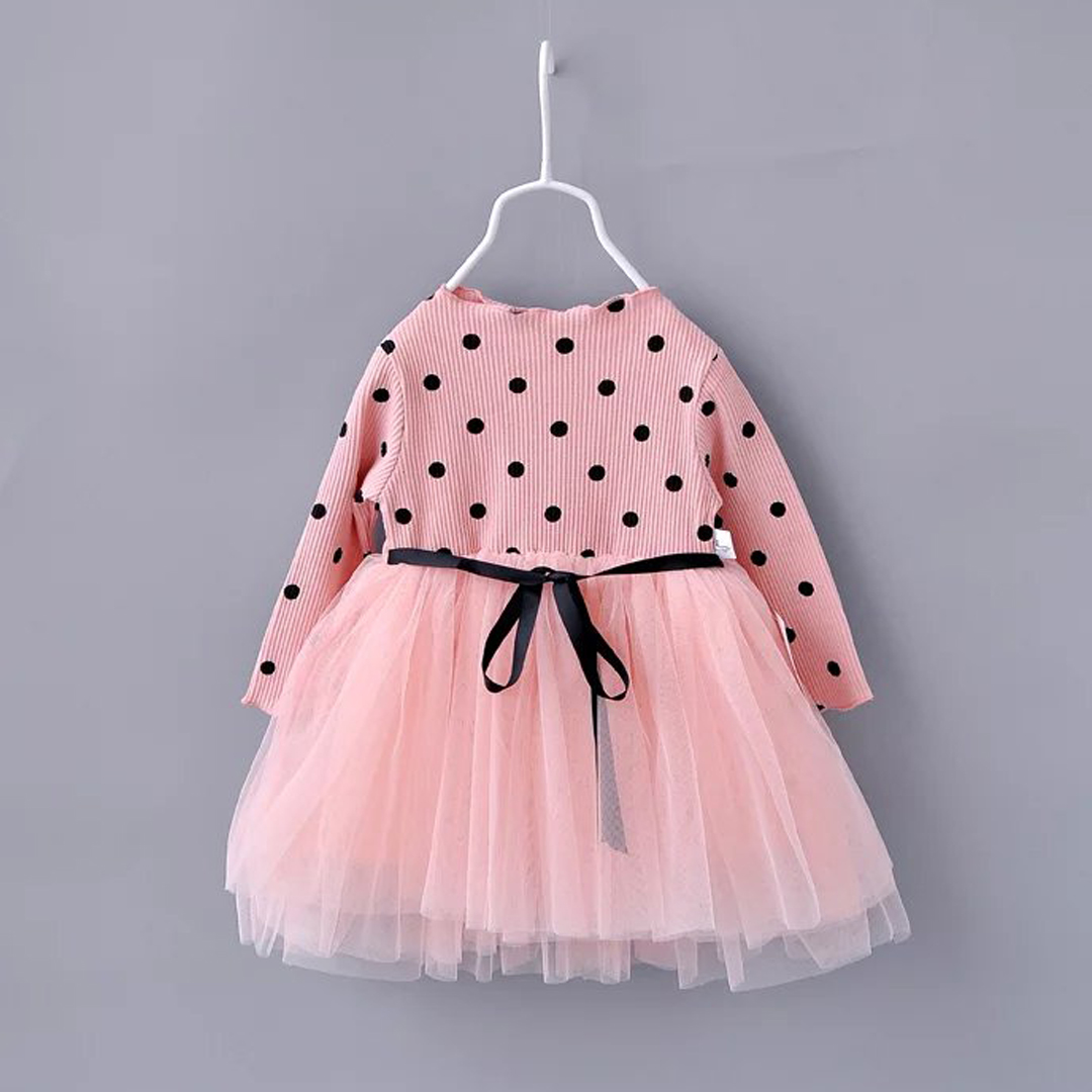 Fashion Pink Korean Little Girls Dress Kids Clothes ...