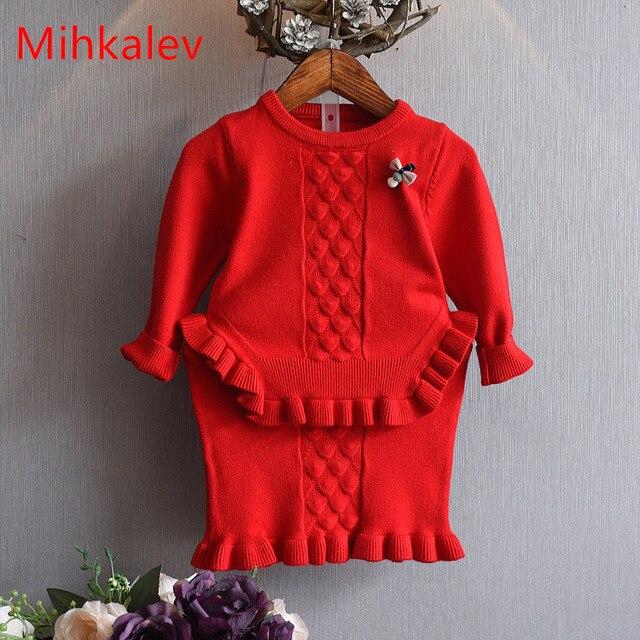 Aliexpress Com Buy Mihkalev 2017 Litter Girls Winter Clothes Set