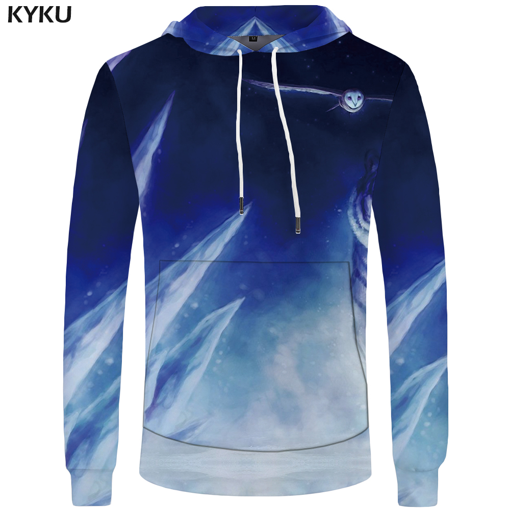 KYKU Brand Tiger Hoodies Men Snow Pocket Galaxy Sweatshirts Anime Mens Clothing Sweatshirt Hoddie 3d Hoodies Hoodie Funny
