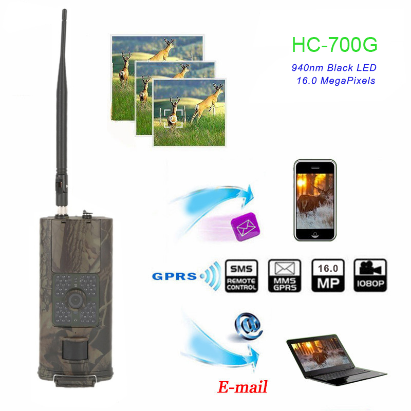 SMTP Hunting Trail Camera 3G MMS SMS 16MP 1080P Cellular Cameras HC700G Night Vision 940nm Photo Traps Wild SurveillanceSMTP Hunting Trail Camera 3G MMS SMS 16MP 1080P Cellular Cameras HC700G Night Vision 940nm Photo Traps Wild Surveillance