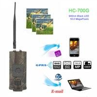 SMTP Hunting Trail Camera 3G MMS SMS 16MP 1080P Cellular Cameras HC700G Night Vision 940nm Photo Traps Wild Surveillance