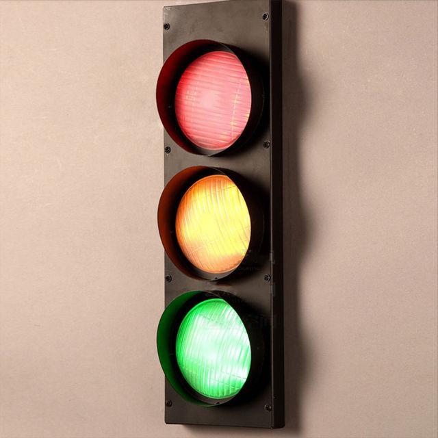 Modern Home Decor Traffic Light Corridor Loft Wall Lamp Fixture Bedroom  Lighting