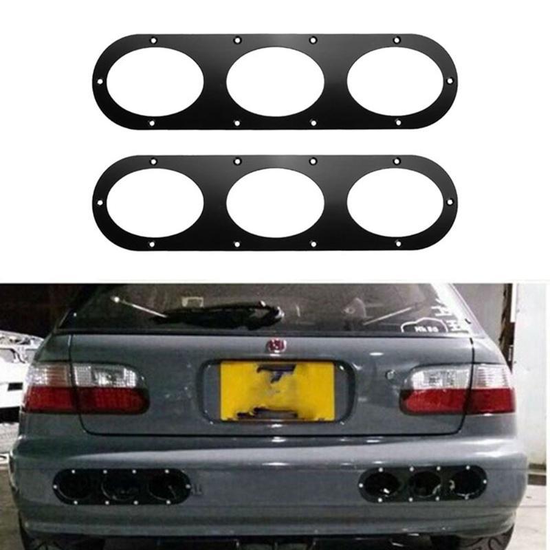 VODOOL 2pcs Universal Car Rear Bumper Race Air Diversion Diffuser Panels Exterior Mouding Auto Vehicle Accessory Car Styling