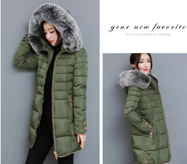 2018 The new Korean version of the long version of the thickening body, large wool collar cotton clothes NN1709. 3