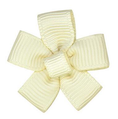 Free Shipping 200pcs Ribbon Flower Garment or Craft Jewelry Accessory Gift Decorated Ivory