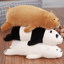 New hot sale 50-90cm  Kawaii Cartoon Brown bear panda three naked dolls Stuffed Plush Toys Pillow for Children Gift