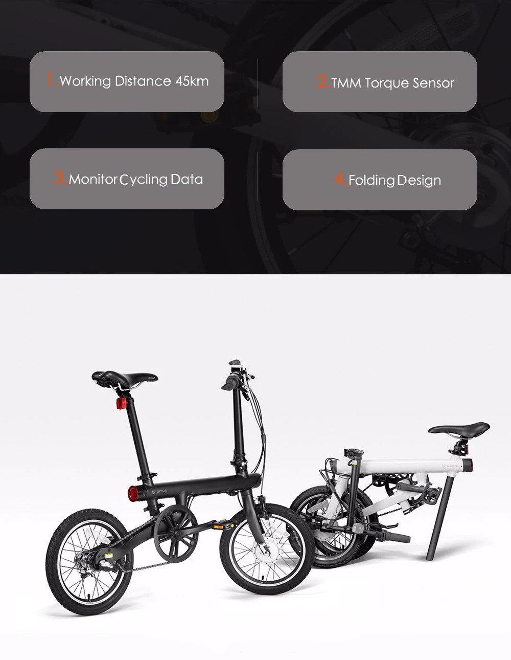 HTB1g9I1E25TBuNjSspcq6znGFXaG - 16inch Origina XIAOMI electrical bike Qicycle EF1 Mini electrical Ebike good folding  bike lithium battery mijia  CITY EBIKE