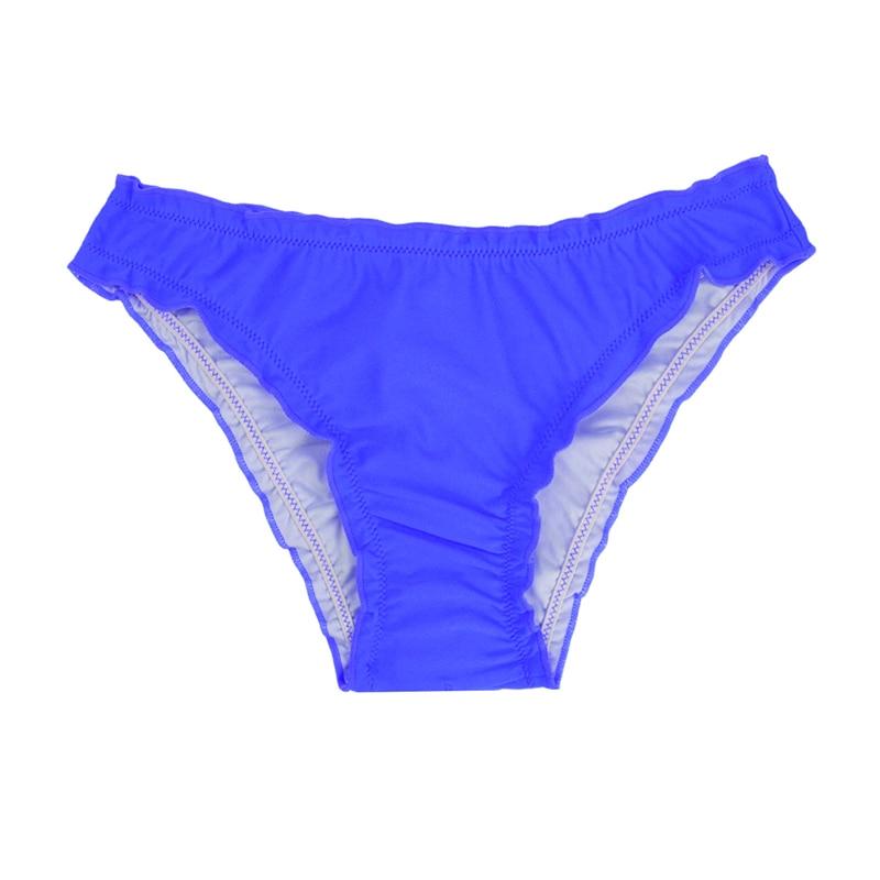 Женский купальник с низкой талией бикини снизу микро Chiffons печати двух частей отделяет плавки сексуальные купальник женский летний B607 - Цвет: B607H