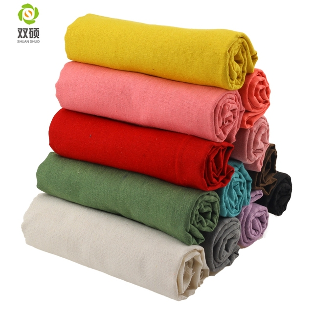 Solid Color Design Linen Fabric Qualities linen Cloth For Curtains, Sofa, Bags, Tablecloths  Cover 150*50CM/PCS