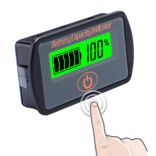 12 В/24 В Регулируемый ЖК-дисплей Автомобильный свинцово-кислотный литиевый аккумулятор вольтметр тестер напряжения сенсорного типа индикатор емкости аккумулятора LY7S
