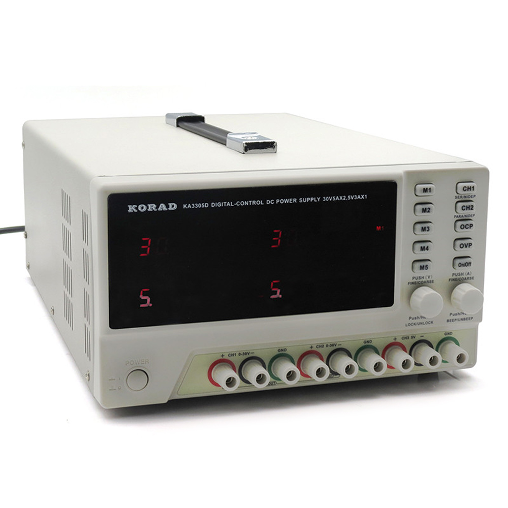 30 В в 5A KA3305D трехполосный источник питания постоянного тока программируемый прецизионный Регулируемый тройной линейный Цифровой Регулируе