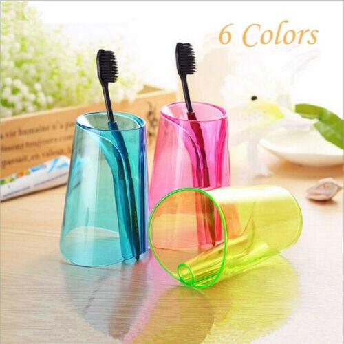 Fashion Simple CreativeTransparent Large Capacity Drinking Cup Bathroom Gargle 300 Ml 6 Colors