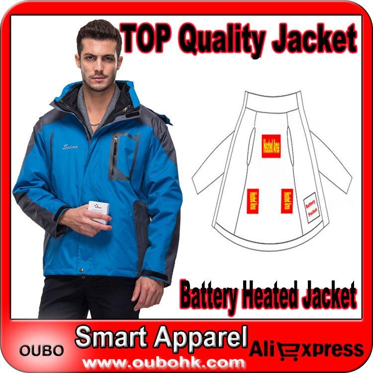 Battery heated jacket Electric Heated Skiing Jacket Hiking Men Sportswear Windproof Waterproof Two-piece Type OUBOHK - NINGBO OUBO APPAREL CO., LTD store