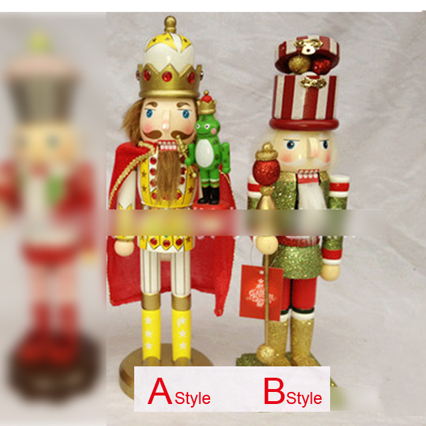 HT068 Freeshipping Action & Toy 38CM Frog Prince Nutcracker, Unique soldiers walnut Christmas birthday Valentine's Day gift стоимость