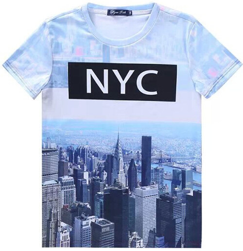 9168b142a26  Elmo womens fashion 2015 NYC New York City Printed cool tshirt O-Neck  Casual t-shirt women brand plus size S-XXL Wholesale