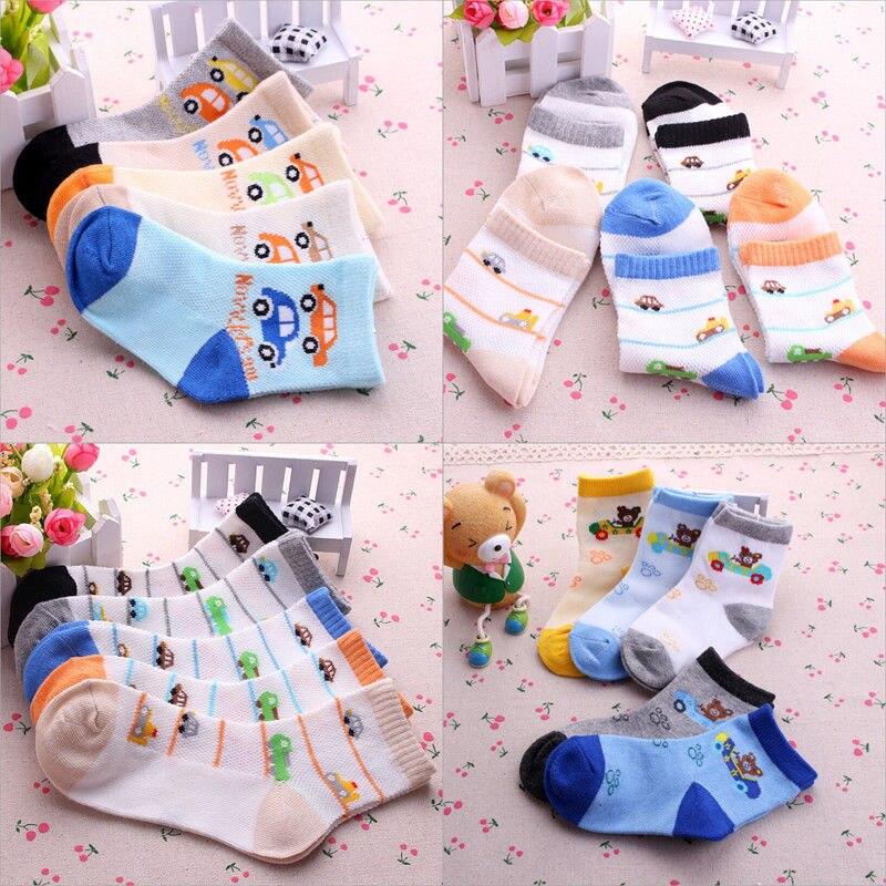 5 Pairs baby socks Boy Girl Cartoon Cotton Socks NewBorn Infant babaies Kids lovely Soft Sock baby stuff breathable socks