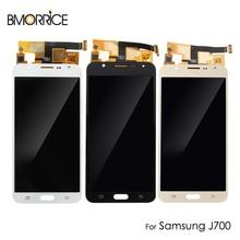 LCD Display For Samsung Galaxy J7 J700 2015 SM-J700M DS J700F J700A Touch Screen Digitizer Assembly Adjust Brightness цена 2017