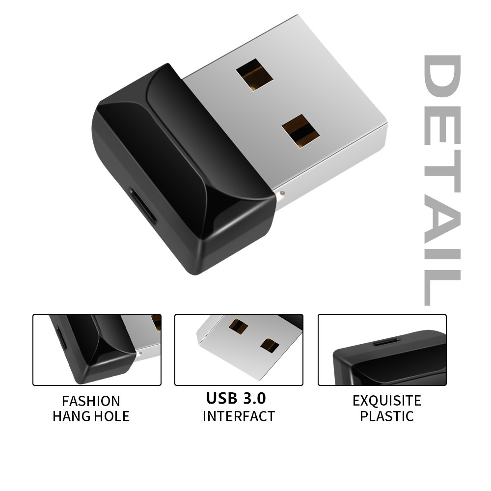 Usb Flash Drive 32GB USB 3.0 Mini Black Flash Memory 16gb 8gb 4gb Plastic Pen Drive 128gb 64gb High Quality U Disk Free Shipping (4)