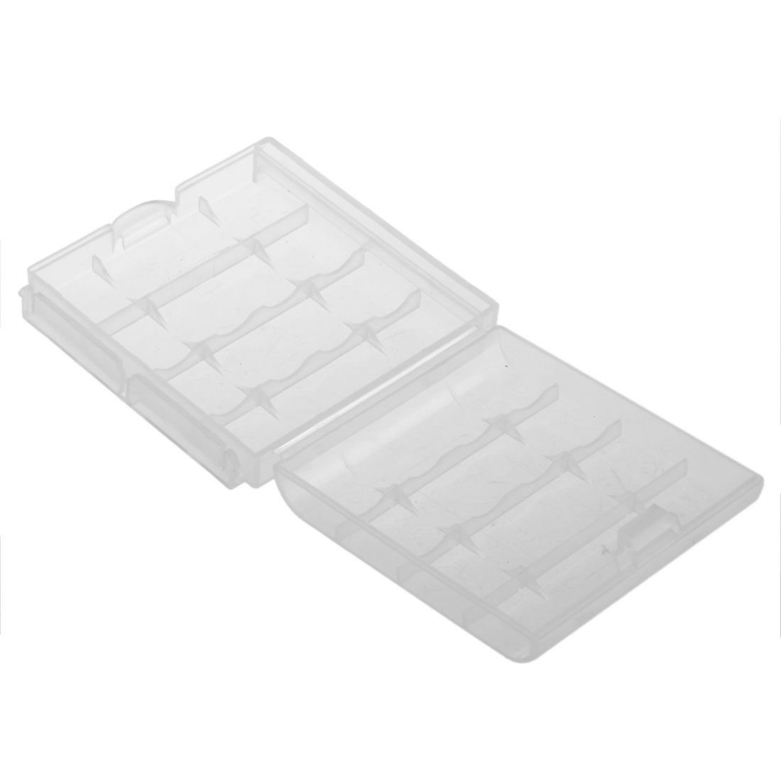 Clear Hard Battery Box Storage Case Holder For 4 AA AAA Rechargeable Batteries