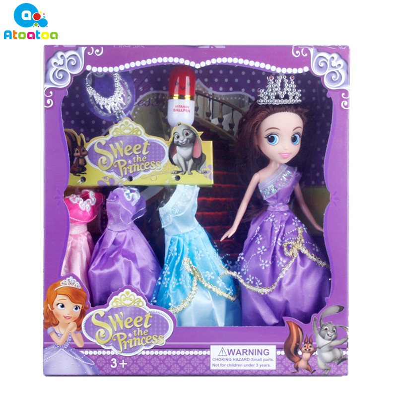 2018 New High Quality Beautiful Doll Toy 28cm Sweet Princess Doll Fashion Toys Girls Plastic Classic Doll Toys Gifts
