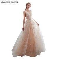 Новое поступление, выпускное платье цвета шампанского, пышное, ТРАПЕЦИЕВИДНОЕ, фатиновое, торжественное платье, женские элегантные вечерни