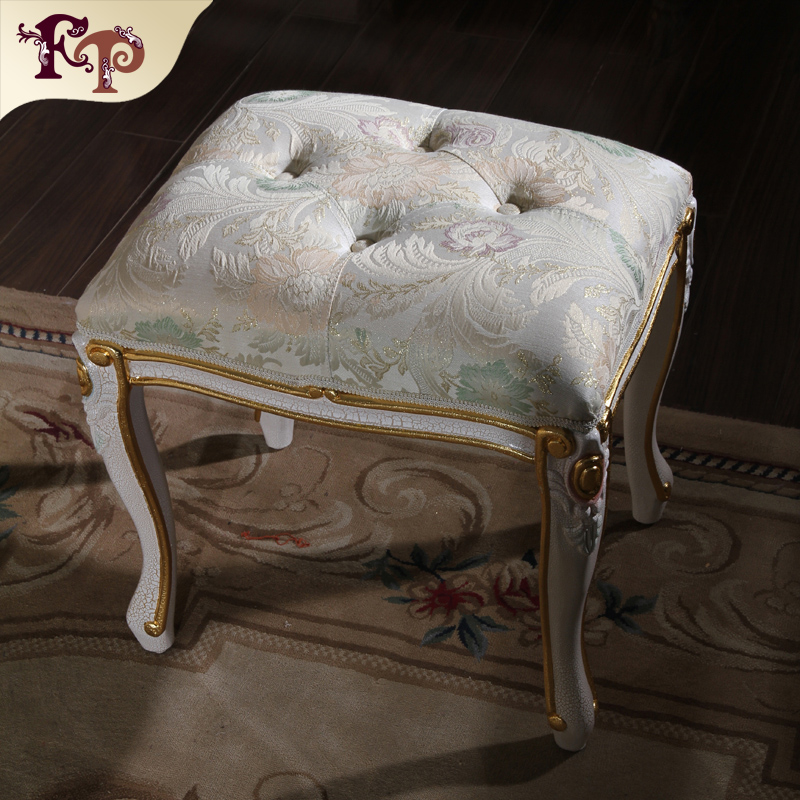 French Provincial Home Furniture Luxury Wooden Bedroom Furniture In Stools Ottomans From