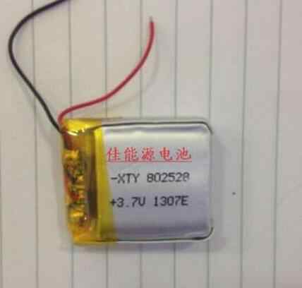 3.7V lithium polymer battery 802528 600MAH digital products  navigation GPS Rechargeable Li-ion Cell