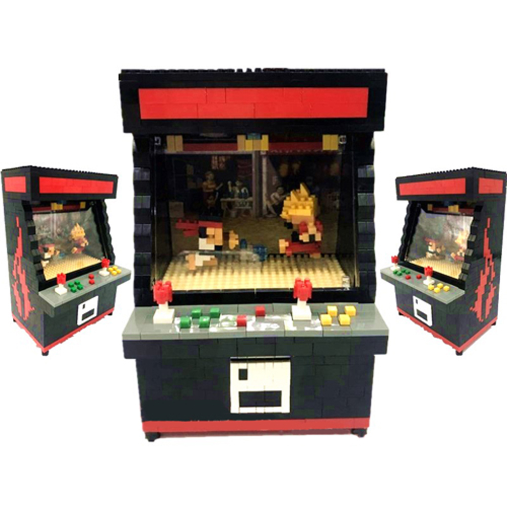 Rikuzo Street Fighter Arcade Game Model Building Block Set 1060pcs - Nano Micro Blocks Mini legoing leping DIY Toy for Kids Gift 1500 2200 pcs big size plastic cute cartoon designs of mini nano blocks diamond mini block toys for children diy game