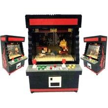 Rikuzo Street Fighter Arcade játék modell építőelem készlet 1060db - Nano Micro blokkok Mini Legoing leping DIY játék gyerekeknek Ajándék