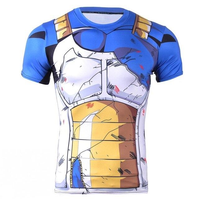 2017 Mens dragon ball t shirt DBZ t shirts Men Anime Shirts Dragon Ball Z Shirt  dragon ball 3D Printed Top Tees