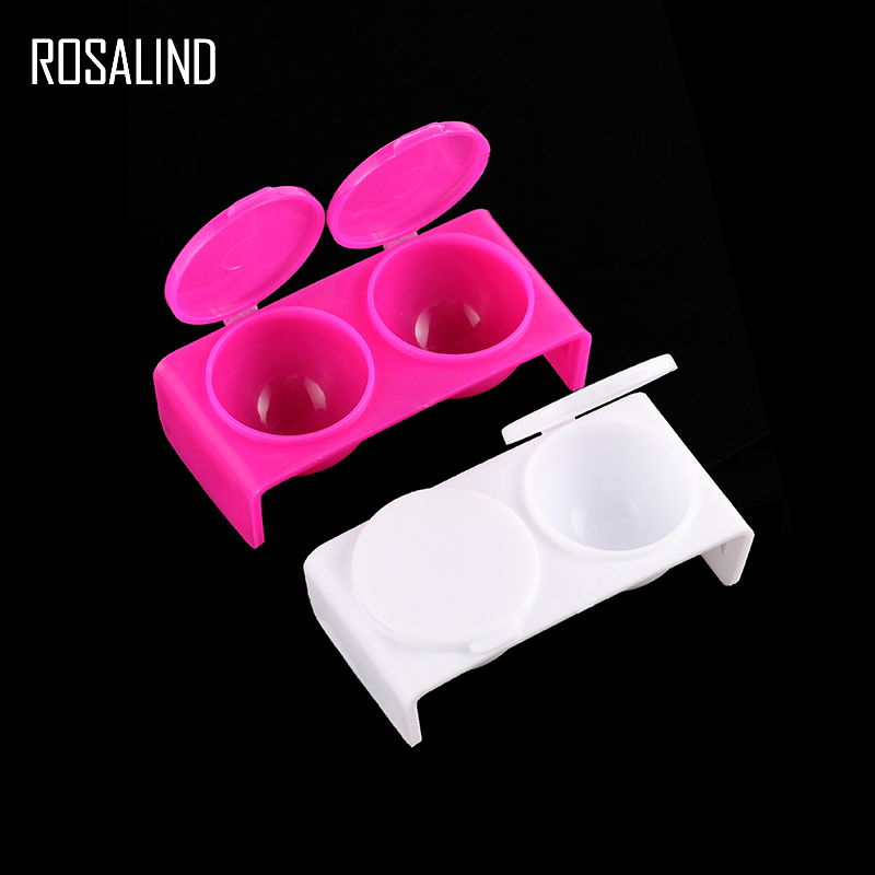 Nails Art & Tools Acrylic Powders & Liquids Popular Brand Rosalind Acrylic Powder Cup Plastic Dish Bowl Cup With Cap Glitter Acrylic Powder Nail Pen Wash Caviar Nail Art Tool Selling Well All Over The World