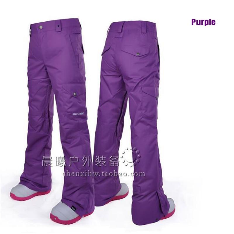Gsou Snow pantalon de Snowboard femme imperméable femme respirant coupe-vent pantalon Sport extérieur Ski pantalon livraison gratuite pantalon de Ski - 5